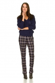Dante 6 |  Checkered trousers Vato | blue  | Picture 3