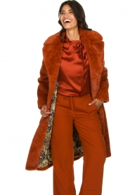 Dante 6 |  Faux fur coat Iboh | rust brown  | Picture 2