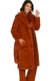 Dante 6 |  Faux fur coat Iboh | rust brown  | Picture 4