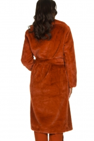 Dante 6 |  Faux fur coat Iboh | rust brown  | Picture 5