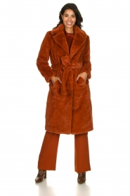 Dante 6 |  Faux fur coat Iboh | rust brown  | Picture 3