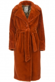 Dante 6 |  Faux fur coat Iboh | rust brown  | Picture 1
