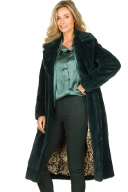 Dante 6 |  Faux fur coat Iboh | green  | Picture 5