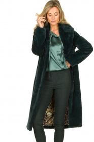 Dante 6 |  Faux fur coat Iboh | green  | Picture 4