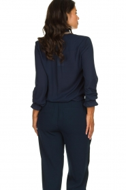 Dante 6 | Blouse with embroideries Pippa | blue  | Picture 5
