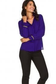 Dante 6 |  Blouse with embroideries Pippa | purple  | Picture 2