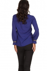Dante 6 |  Blouse with embroideries Pippa | purple  | Picture 5