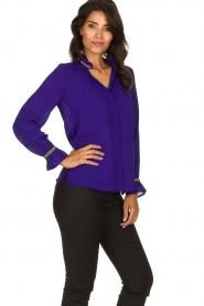 Dante 6 |  Blouse with embroideries Pippa | purple  | Picture 4