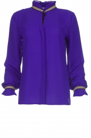 Dante 6 |  Blouse with embroideries Pippa | purple  | Picture 1