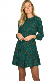Dante 6 |  Printed dress Dolly | green  | Picture 2