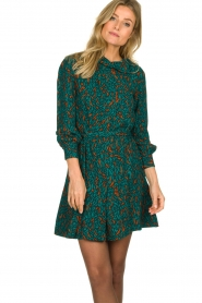 Dante 6 |  Printed dress Dolly | green  | Picture 4