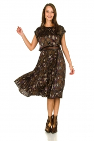 Dante 6 |  Snake print plissé skirt Leann | print  | Picture 3
