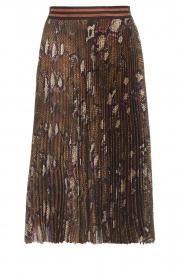 Dante 6 |  Snake print plissé skirt Leann | print  | Picture 1