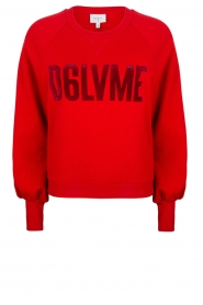 Dante 6 | Sweater with text print Love Me | red