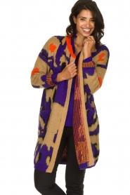 Dante 6 |  Long printed cardigan Himba | purple  | Picture 2