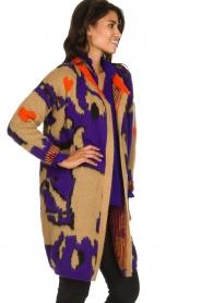 Dante 6 |  Long printed cardigan Himba | purple  | Picture 4