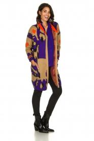 Dante 6 |  Long printed cardigan Himba | purple  | Picture 3