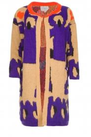 Dante 6 |  Long printed cardigan Himba | purple  | Picture 1