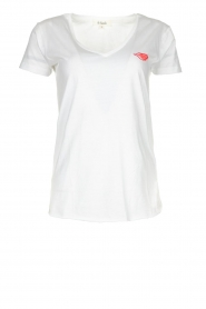 Les Favorites |  T-shirt with lips print Bobby | white  | Picture 1