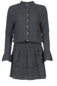Les Favorites |  Dress with ruffle skirt Helene | blue  | Picture 1