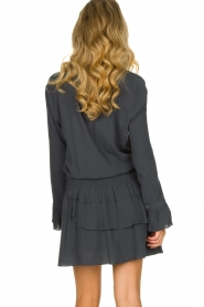 Les Favorites |  Dress with ruffle skirt Helene | blue  | Picture 5