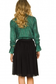 Les Favorites |  Lurex striped blouse Inge | green  | Picture 5