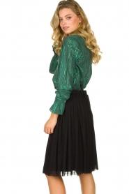 Les Favorites |  Lurex striped blouse Inge | green  | Picture 4