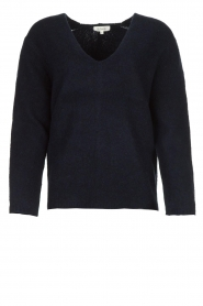 Les Favorites |  Knitted V-neck sweater Fenne | blue  | Picture 1
