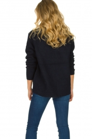 Les Favorites |  Knitted V-neck sweater Fenne | blue  | Picture 6