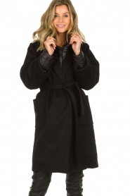 JC Sophie |  Two-part coat Burgundy | black  | Picture 2