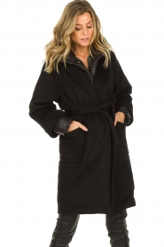 JC Sophie |  Two-part coat Burgundy | black  | Picture 4