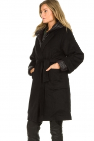 JC Sophie |  Two-part coat Burgundy | black  | Picture 5