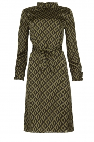 JC Sophie |  Dress with print Beatrice | green  | Picture 1