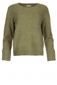 JC Sophie |  Sweater with turned over sleeves Brianna | green  | Picture 1