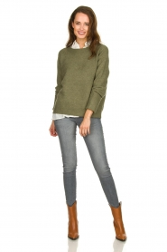 JC Sophie |  Sweater with turned over sleeves Brianna | green  | Picture 3