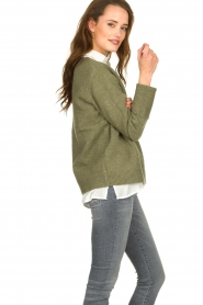 JC Sophie |  Sweater with turned over sleeves Brianna | green  | Picture 4