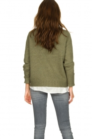 JC Sophie |  Sweater with turned over sleeves Brianna | green  | Picture 5