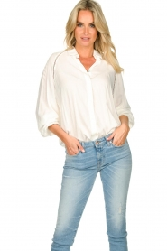 JC Sophie |  Blouse with cut-outs Bess | white  | Picture 2