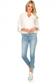 JC Sophie |  Blouse with cut-outs Bess | white  | Picture 3