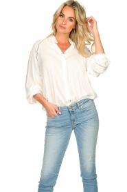 JC Sophie |  Blouse with cut-outs Bess | white  | Picture 4