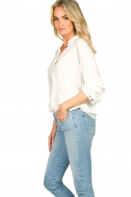 JC Sophie |  Blouse with cut-outs Bess | white  | Picture 5