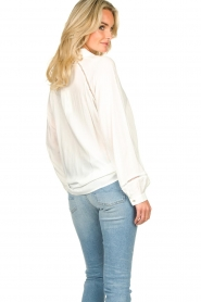 JC Sophie |  Blouse with cut-outs Bess | white  | Picture 6