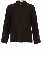 JC Sophie |  Blouse with cut-outs Bess | black  | Picture 1