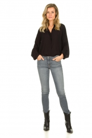 JC Sophie |  Blouse with cut-outs Bess | black  | Picture 3