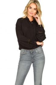 JC Sophie |  Blouse with cut-outs Bess | black  | Picture 2
