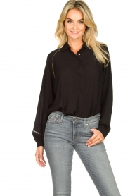 JC Sophie |  Blouse with cut-outs Bess | black  | Picture 4