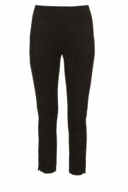 JC Sophie |  Suede look pants Bunny | black  | Picture 1