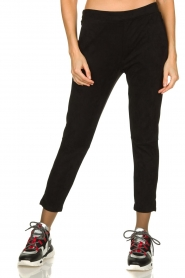 JC Sophie |  Suede look pants Bunny | black  | Picture 2
