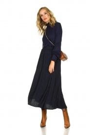 JC Sophie |  Folded maxi skirt Becky | blue  | Picture 2