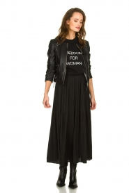 JC Sophie |  Folded maxi skirt Becky | zwart  | Picture 2